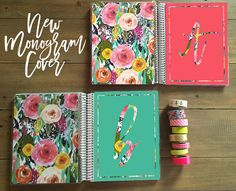 This is a planner cover designed, printed, laminated and hole punched for your Erin Condren Life Planner, Happy Planner or Plum Planner. Happy Planner Cover, Planner Covers, Custom Planner, Erin Condren Life Planner, Floral Watercolor, Cover Design, Hand Lettering, Etsy Shop, Plum