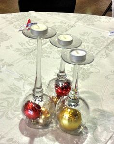 Simple. We have used wine glasses in the past for decor and could always find more at the thrift shop.