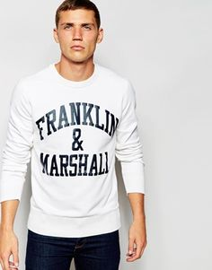 Franklin & Marshall Sweatshirt with Franklin & Marshall Print