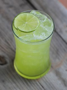 Use some fresh green and yellow melons in this sangria. Ingredients:1 750 ml bottle of sauvignon blanc or a semi-sweet wine like Moscato1 1/2 cups summer melon, cut into bite-sized cubes (i.e. canary, honeydew, cantaloupe)3/4 cup Midori melon liqueur 1 1/2 oz limeade (i.e. Simply Limeade)Sugar, to taste,2 limes, cut into wheels Directions: Combine ingredients in a large pitcher. Refrigerate until ready to serve. Pour into iced glasses. Makes 5 servings