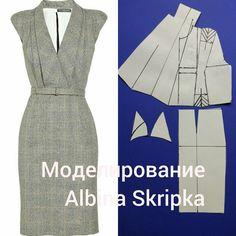 """2,338 Likes, 23 Comments - Альбина Скрипка (@albinaskripka) on Instagram: """"A сегодня мы рассмотрим моделирование вот такого, достаточно сложного платья. В нем и рукав…"""""""