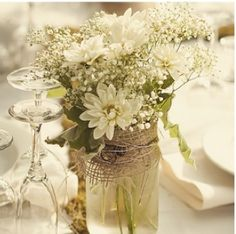 Remember the baby's breath for vintage floral...table displays:)