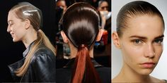 Sleek ponytail - Alexander Wang F/W Long Hair Braided Hairstyles, Slick Hairstyles, Cute Girls Hairstyles, Winter Hairstyles, Style Hairstyle, Hairstyles Haircuts, Alexander Wang, Short Hair Styles, Natural Hair Styles