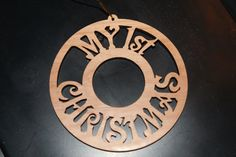 Personalized laser engraved Christmas Ornaments