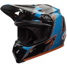 Bell Rebound Black/Blue Helmet at MXstore Off Road Helmets, Dirt Bike Helmets, Motocross Helmets, Visors, Sports Activities, Rebounding, Gears, Decal, Blue