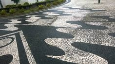 Pavement in Ribeira Grande, Azores