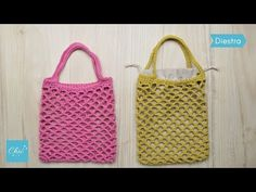 Crochet Diy, Easy Crochet Projects, Costura Diy, Yarn Bag, Knitted Bags, Videos, Straw Bag, Diy And Crafts, Tote Bag