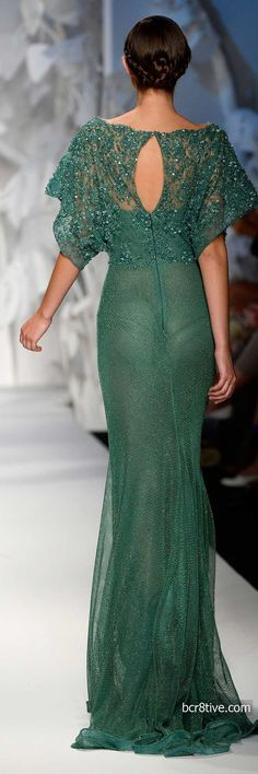 Abed Mahfouz Fall Winter 2014 Haute Couture......love the color