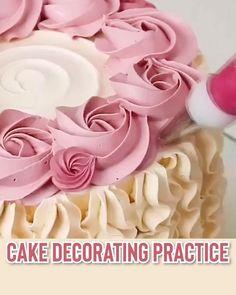Cake Decorating Frosting, Cake Decorating Designs, Cake Decorating Videos, Cake Decorating Techniques, Cake Designs, Cookie Decorating, Cake Icing, Eat Cake, Cupcake Cakes