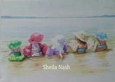 """""""Baby Splashes"""" watercolor"""