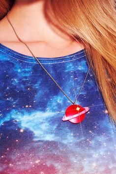 Planet Necklace - Red
