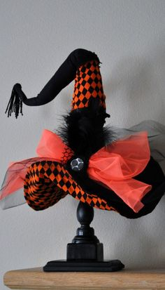 Witch Hat Diva Witch Hat Halloween Decor -  - Limited Edition by JoJo's Bootique