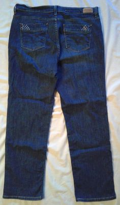 LEVI'S Perfectly SLIMMING 512 Straigh Leg Jeans EMBELLISHED POCKETS 36 x 28 #Levis #StraightLeg