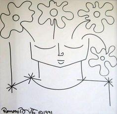 """Romero Britto """"Egg Flower""""1991"""