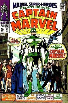 Marvel Super-Heroes #12. This is the first appearance of Marvel's alien super hero. He was not the first alien hero in comics, but his race, the Kree, were the focal point of many story lines.