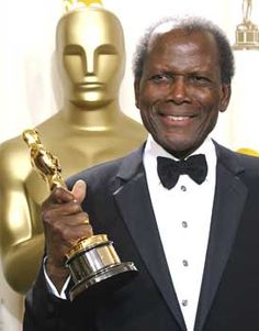Sidney Poitier (b. 1927-) grew up poor in the Bahamas as a son of farmers. At 15, he was sent to Miami to live w his brother, to avoid delinquency in Bahamas. The racial chasm in the U.S. shocked him; he vowed to overcome it. At 18, he went to NYC, did menial jobs, then, the Negro Theatre. He worked hard to lose his accent and learn acting. By 1950, he was offered leading stage & film roles. In '63, he won the Oscar for 'Lilies of the Field'.