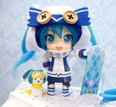 Vocaloid - Hatsune Miku & Rabbit Yukine - Snow 2016, Snow Owl ver. - Nendoroid - Good Smile Company (Feb 2016) - SD-Figuren / Nendoroids - Japanshrine