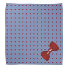 Hearts Abound Pet Bandana - Saint Valentine's Day gift idea couple love girlfriend boyfriend design