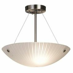 Striped Glassware Semi Flush Ceiling Fixture  Hangstraights includ...
