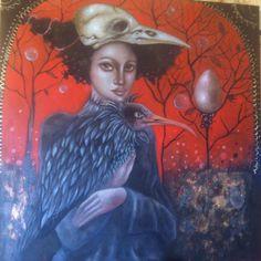 Ingrid Tusell is an artist from Teruel, Spain. In her paintings Ingrid explores the female universe: the weaknesses and strengths of women. I Am Batman, Spanish Painters, Pop Surrealism, Portrait Art, Portraits, Figure Painting, Art Google, Dark Art, Online Art Gallery