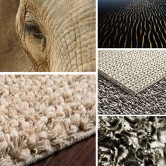 Texture texture texture! Add a new dimension of style to your space with textured rugs, pillows and poufs from Surya.