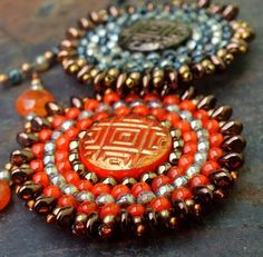 Sun amulet - Beaded pendant. And more...