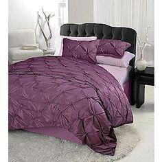 Urban Living Diamond Tuft Comforter Set- Purple-
