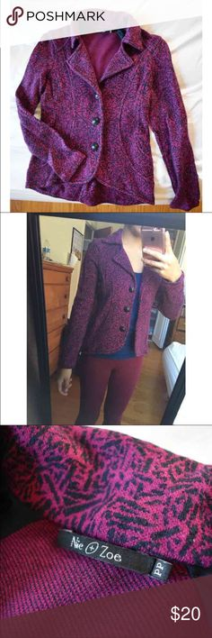 Cute purple blazer Blazer or you can use as a jacket too.  Used once for an interview Very cute! NIC + ZOE Jackets & Coats Blazers