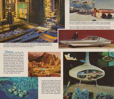 Here is a Foretaste of Tomorrow - General Motors Futurama    This is the inside of a General Motors Futurama at the New York World's Fair mailer from 1965. it forecasts man in the year 2024.