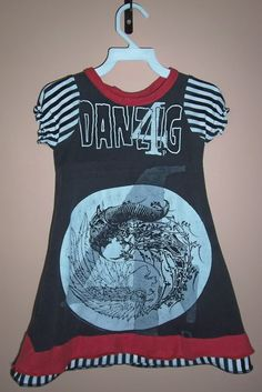 adult tee to toddler dress recon. SOMEWHERE IN THE WORLD THERE IS AN AWESOME TODDLER WALKING AROUND WITH A DANZIG DRESS