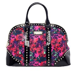 Amazon.com: Betsey Johnson Women's Acrylic Flowers Dome Satchel Weekender Carry-On Tote Bag: Everything Else