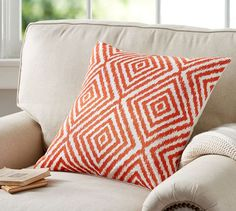 Hanley Geo Embroidered Pillow Cover | Pottery Barn