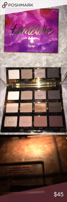Tartelette in bloom pallete! Gorgeous pigmented pallete! As shown I have used it but still plenty of product left. Will swap for other high end makeup! Will sell on e bay cheaper! tarte Makeup Eyeshadow