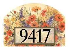 """Autumn Afternoon Magnetic Yard DeSign by Yard DeSigns. $11.99. Screen printed. Full Surface magnet backing. Made in the USA. 14"""" x 10"""". Decorate your lawn or garden with these interchangeable magnetic designs.  For use on Yard DeSigns ornamental post or yard stake.  Some styles include self adhesive address numbers."""