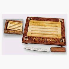 Challa Board - Bubinga Wood by Aviv Judaica. $85.00. Challa Board Made of Bubinga Wood w/knife and Removable Insert - Size 17 L x 11 1/2 W. Knife Included