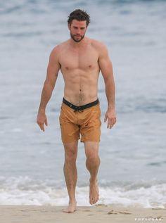 Chris Hemsworth Shirtless, Liam Hemsworth, Shirtless Men, Gabriella Brooks, Cute Blonde Boys, Hemsworth Brothers, Big Sean, Muscular Men, Celebrity Dads