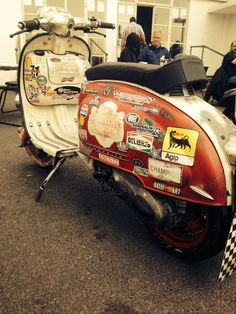 Lambretta series 2 mutant Ace Cafe London England