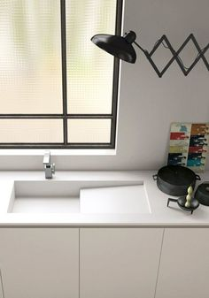 Cooking with Coifa: Projects, Tips and Beautiful Photos! - Home Fashion Trend Kitchen Sink Design, Kitchen Sinks, Corian Sink, Small Stove, Diy Furniture Videos, Copper Decor, Kitchen Colors, Kitchen Ideas, Industrial Style