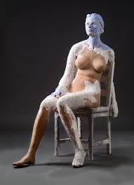 South African sculptor Kathy Venter is known for her unique life-size terracotta sculptures covered with layers of polychrome gypsum. Irish Culture, Bronze Patina, Body Poses, Assemblage Art, Sculpting, Sculptures, Old Things, Creatures, African