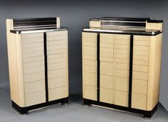 Two Norman Bel Geddes Dental Cabinets...got the one on the left.
