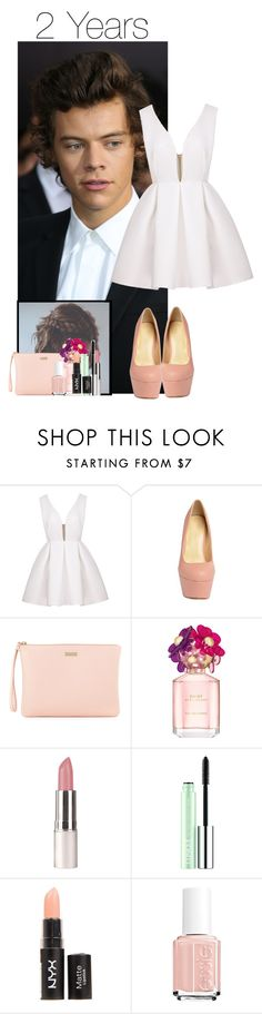 """""""2 Year Anniversary with Harry"""" by thatweirdgirlkris ❤ liked on Polyvore featuring Furla, Marc Jacobs, Clinique and Essie"""