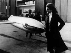 Jackie Kennedy-Onassis à l'aéroport de Paris, 1973