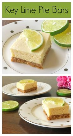 These key lime pie bars are easy to make and will be gone in seconds! Cinnamon in the crust adds a warm spice while ginger (optional) in the filling makes the flavors pop! Best Dessert Recipes, Brownie Recipes, Cookie Recipes, Bar Recipes, Recipies, Lime Recipes, Sweets Recipes, Summer Recipes, Drink Recipes