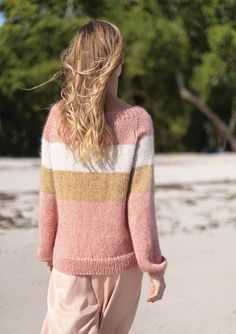 Randig Jumper Macrame Patterns, Crochet Blanket Patterns, Stitch Patterns, Knitting Patterns, Top Pattern, Free Pattern, Swedish Design, Yarn Shop, Hand Embroidery Patterns