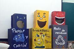 Centro de educacion medioambiental caserio del henares - los huertos de ocio Recycle City, Reuse Recycle, Activities For 5 Year Olds, Art Activities For Kids, Recycling For Kids, Recycling Bins, Diy And Crafts, Crafts For Kids, Cooperative Games
