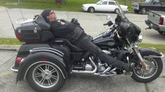 Who needs an easy chair when you can nap on your Trike?