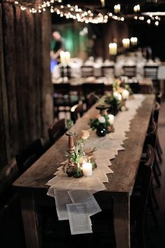 Table runners wedding - 50 The Best Winter Table Decorations You Need to Try – Table runners wedding Trendy Wedding, Diy Wedding, Rustic Wedding, Wedding Music, Wedding Book, Wedding Ideas, Wedding Inspiration, Wedding Simple, Decor Wedding