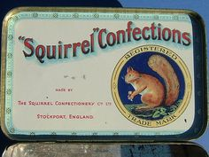 Vintage Squirrel Confections Cherry Lips Tin  by BiminiCricket, $45.00