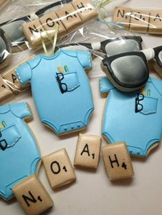 Nerdy Geek baby shower cookies by Snickerdoodle Sweets