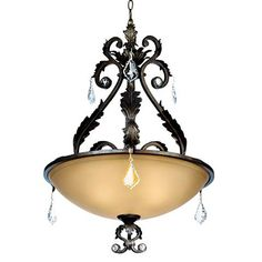 Kathy Ireland Ramas de Luces Bronze Pendant Chandelier - #64622 | Lamps Plus